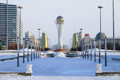 Astana in winter day. Royalty Free Stock Photo
