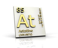 Astatine form Periodic Table of Elements Royalty Free Stock Photos