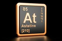 Astatine no elemento químico rendição 3d Ilustração Stock