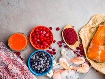 Astaxanthin υγιή τρόφιμα διατροφής, πλούσια σε ιώδιο, omega3, αντιοξειδωτικοοι στοκ εικόνες