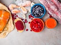 Astaxanthin υγιή τρόφιμα διατροφής, πλούσια σε ιώδιο, omega3, αντιοξειδωτικοοι στοκ φωτογραφία με δικαίωμα ελεύθερης χρήσης