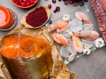 Astaxanthin Healthy Nutrition food. Rich with antioxidants, iodine royalty free stock photography