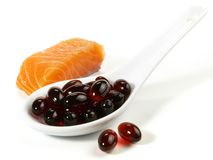 Astaxanthin Pillen - Gezonde Voeding stock afbeelding