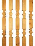 Aste della ringhiera di legno Immagine Stock Libera da Diritti