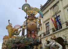 Asteca de Las Fallas Imagens de Stock