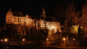 Astel Sigmaringen in night,Germany royalty free stock image