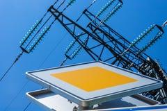 Asten power a high-voltage line Stock Image