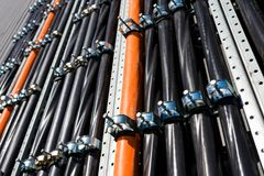 Asteners para la instalación y los alambres trenzados Imagen de archivo libre de regalías