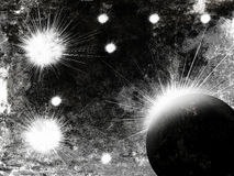 Asteróide na explosão do espaço Foto de Stock Royalty Free