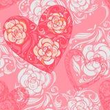 Aster blommar med sidor och hjärtor Royaltyfri Fotografi