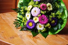 Aster bouquet Royalty Free Stock Photo