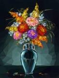 Aster dei fiori, poli basso Immagini Stock Libere da Diritti