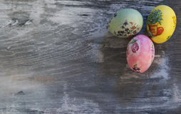 Aster eggs, painted, patterned Royalty Free Stock Images