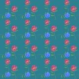 Aster, Michaelmas-madeliefje Naadloze patroontextuur van bloemen Bloemenachtergrond, fotocollage stock illustratie