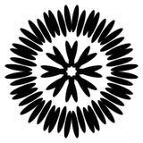 Aster negro simétrico Modelo circular Ilustración del vector Imágenes de archivo libres de regalías