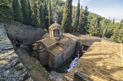 Asteriou kloster i Attica, Grekland Royaltyfria Foton