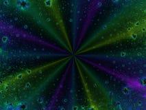 Asterisches Feld im Weltraum Stockfotografie