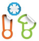 Asterisco, marca de exclamación y signo de interrogación Imágenes de archivo libres de regalías