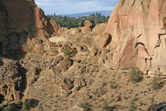Asterisk Pass. Is a rugged hiking trail at Smith Rock State Park near Terrebonne, Oregon.  The name is due to an asterisk on a published trail map that Stock Image