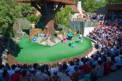 asterix γαλλικό θέατρο πάρκων Στοκ φωτογραφία με δικαίωμα ελεύθερης χρήσης