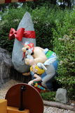 Asterix and Obelix dolls from Epidemais Croisiere attraction at Park Asterix, Ile de France, France Royalty Free Stock Images