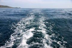 Astern sea wave. Royalty Free Stock Photo