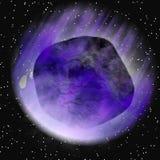 Asteroïde bleu illustration de vecteur