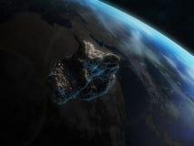 Asteroïde dangereux illustration libre de droits