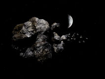 Asteroïde dans l'espace illustration de vecteur