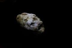 asteroïde in diepe ruimte Stock Afbeelding