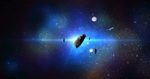 Asteroïde in ruimte vector illustratie