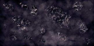 Asteroïden, meteorieten, kometen vector illustratie