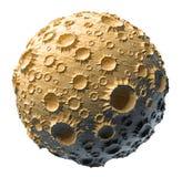 Asteroid πλανητών φεγγαριών που απομονώνεται Στοκ φωτογραφία με δικαίωμα ελεύθερης χρήσης