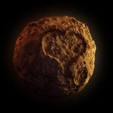 Asteroid. With print of the heart vector illustration