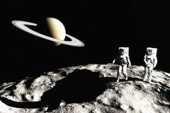 On asteroid vector illustration