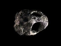 Asteroid. An asteroid on black background Stock Photo