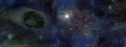 Asteroid Approaching Stock Image