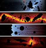 Asteroid Banners Royalty Free Stock Photos