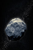 Asteroid belt vector illustration