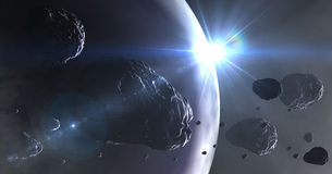 Asteroid Belt Stock Photography