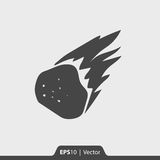 Asteroid burning in space  icon for web and mobile. Asteroid burning in space  icon for web Royalty Free Stock Photos