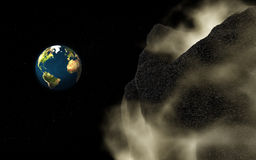 Asteroid disaster royalty free stock images