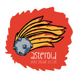 Asteroid drawn Royalty Free Stock Photography