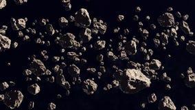 Asteroid field royalty free illustration