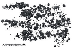 Asteroid field illustration Stock Photography