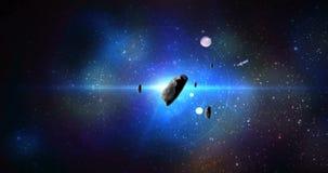 Asteroid i utrymme vektor illustrationer