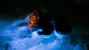 Asteroid i utrymme stock video