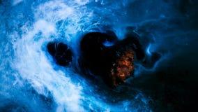 Asteroid im Raum stock footage
