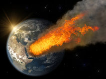 Asteroid impact Royalty Free Stock Images