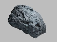 Asteroid on isolated background. Stone asteroid from space on isolated background royalty free stock photography